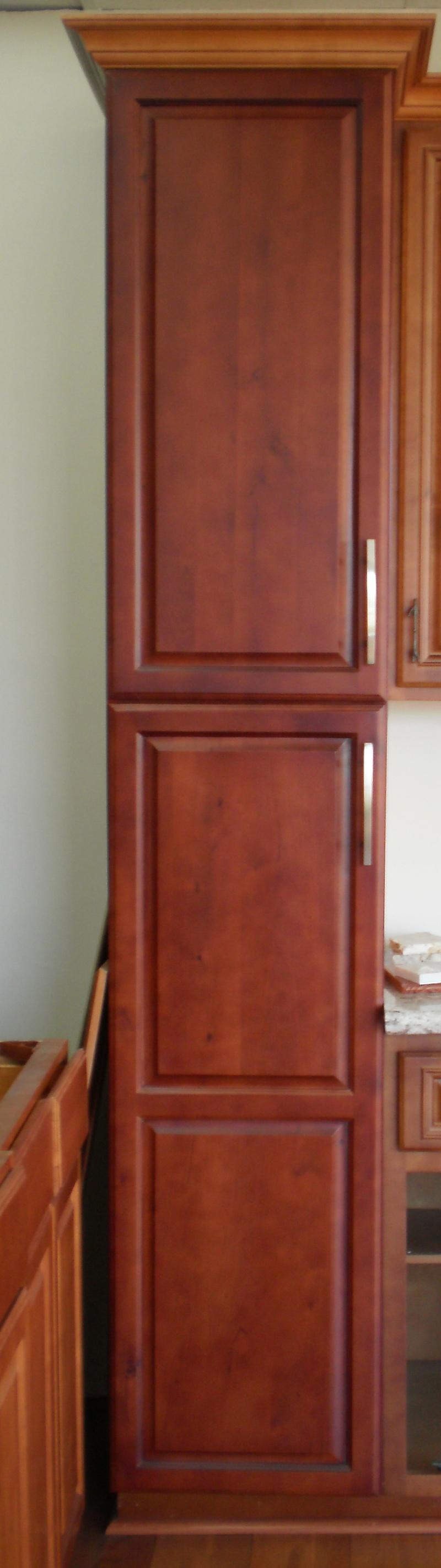 Dark Cherry Maple Pantry Myt Kitchen Cabinet Design